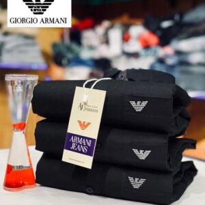 Giorgio Armani Plain Formal Shirt (Black)